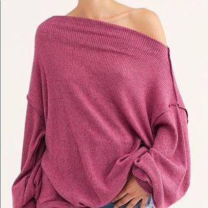 [ FREE PEOPLE] Sweet Myrtle Main Squeeze Hacci Top